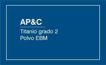 AP&C CpTi Grado 2 CL